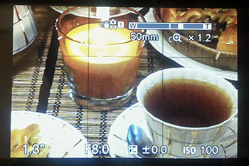 Скриншот экран камеры шкала зума