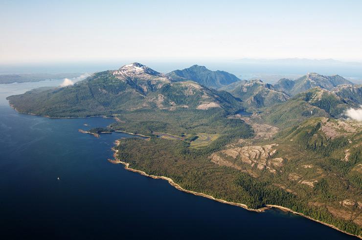 Фото 1. Аляска, вид с самолёта