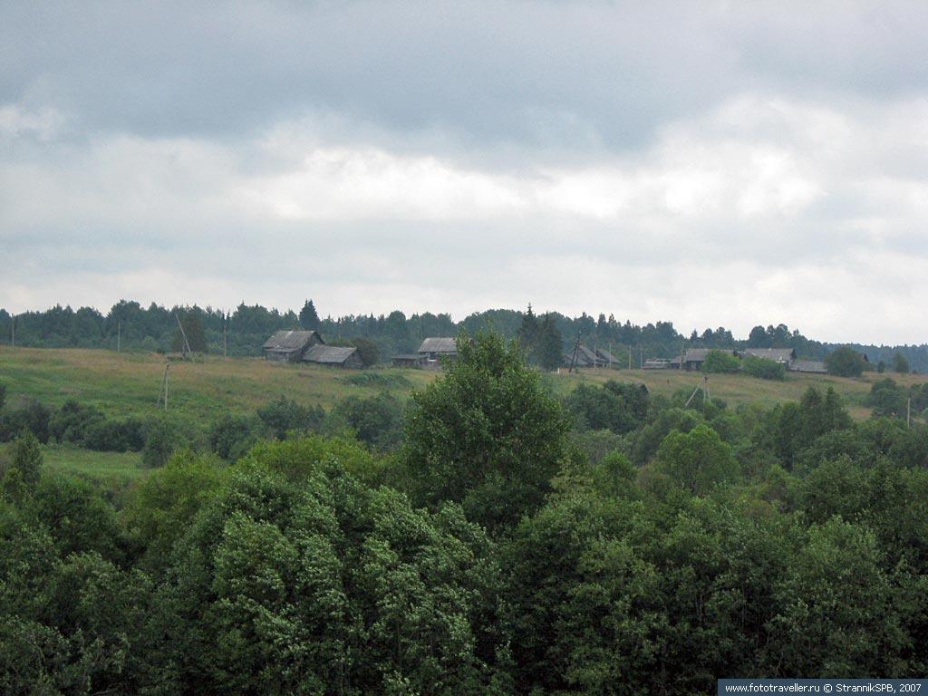 Вид из Селище на Моклаково