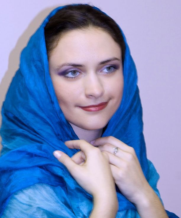Девушка в голубом эротика