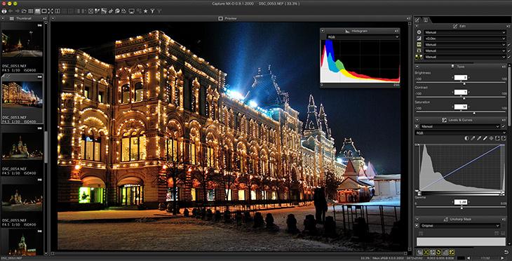 Скачать программа для обработки фотографий с никон